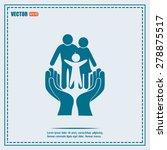 family life insurance sign icon.... | Shutterstock .eps vector #278875517
