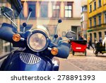 scooter on a crowded street of... | Shutterstock . vector #278891393