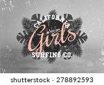 retro style typographic design... | Shutterstock .eps vector #278892593