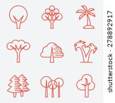 Tree Icons  Flat Design  Thin...