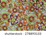 macro bright floral pattern on... | Shutterstock . vector #278893133