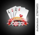 vector illustration on a casino ...   Shutterstock .eps vector #278896853
