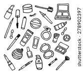 hand drawn vector set of make... | Shutterstock .eps vector #278902397