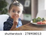 eating vegetables by child make ... | Shutterstock . vector #278908013
