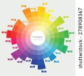 color wheel circle infographic. ... | Shutterstock .eps vector #278908367