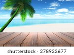 3d render of a wooden table... | Shutterstock . vector #278922677