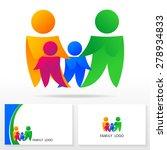 family logo icon design... | Shutterstock .eps vector #278934833