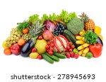 assortment fresh fruits and... | Shutterstock . vector #278945693