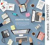 modern flat design creative... | Shutterstock . vector #278954777