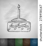 pie icon. hand drawn vector... | Shutterstock .eps vector #278958167