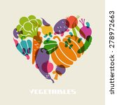 color vegetables icon. food... | Shutterstock . vector #278972663