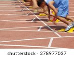 sports meeting  the athlete... | Shutterstock . vector #278977037