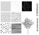 pattern background black and... | Shutterstock . vector #278989643
