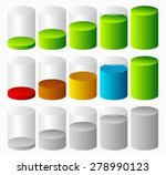 3d cylinders. level  completion ... | Shutterstock .eps vector #278990123