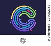 c letter line logo. vector... | Shutterstock .eps vector #279002153
