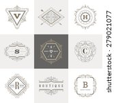 monogram logo template with... | Shutterstock .eps vector #279021077