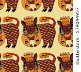 ethnic seamless pattern fabric... | Shutterstock . vector #279044957