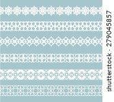 set of white borders isolated... | Shutterstock .eps vector #279045857