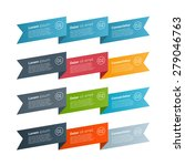 vector ribbons infographic... | Shutterstock .eps vector #279046763