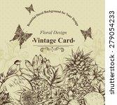 vintage monochrome greeting... | Shutterstock .eps vector #279054233