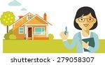 real estate concept realtor... | Shutterstock .eps vector #279058307