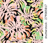 abstract vector floral liana...   Shutterstock .eps vector #279085817