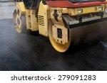 road roller flattening new... | Shutterstock . vector #279091283