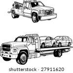 vector tow trucks | Shutterstock .eps vector #27911620