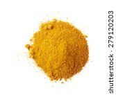 pile of yellow curry powder... | Shutterstock . vector #279120203