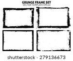 grunge frame texture set  ... | Shutterstock .eps vector #279136673