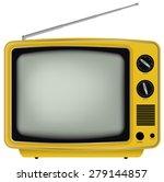 illustration of yellow retro... | Shutterstock .eps vector #279144857