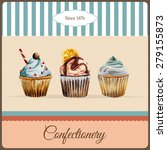 confectionery advertisement... | Shutterstock .eps vector #279155873