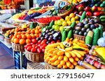 fresh exotic fruits in mercado... | Shutterstock . vector #279156047