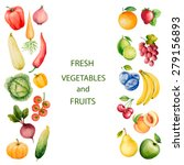 set of watercolor vegetables... | Shutterstock .eps vector #279156893