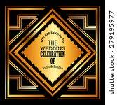 wedding invitation design ... | Shutterstock .eps vector #279195977