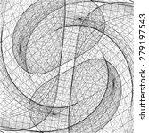 3d geometric organic wireframe... | Shutterstock .eps vector #279197543