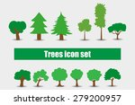 trees icons set vector... | Shutterstock .eps vector #279200957