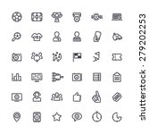 set of outline vector icons on... | Shutterstock .eps vector #279202253