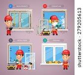 window installation step by... | Shutterstock .eps vector #279205613