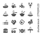 Food Icon Set  Vector Eps10.
