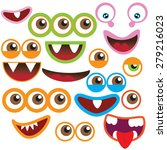 monster eye and mouth vector... | Shutterstock .eps vector #279216023