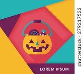 halloween pumpkin shaped box... | Shutterstock .eps vector #279217523