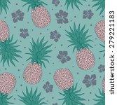vintage pineapple seamless for... | Shutterstock .eps vector #279221183