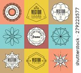 set line art insignia retro... | Shutterstock .eps vector #279223577