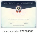 certificate of achievement... | Shutterstock .eps vector #279223583
