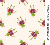 robot   cartoon seamless... | Shutterstock .eps vector #279229637