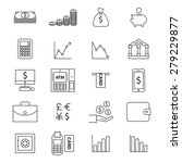 money line  icon set | Shutterstock .eps vector #279229877