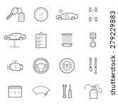 car service icon set  | Shutterstock .eps vector #279229883