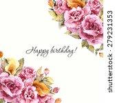 roses bouquet. floral vintage... | Shutterstock .eps vector #279231353