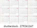 vector calendar planner... | Shutterstock .eps vector #279261167